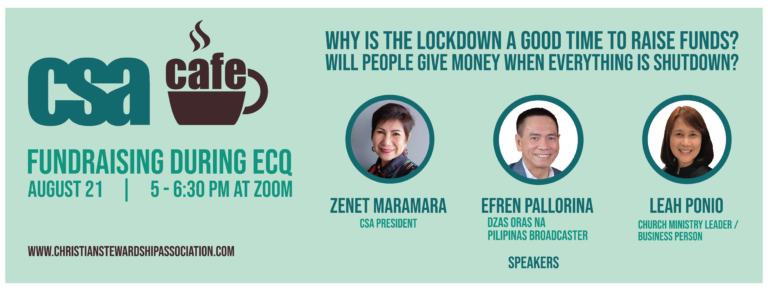 Why is the lockdown a Good Time to Raise Funds? Will people give money when everything is shut down? Join us in a FREE Webinar on Fundraising During ECQ! Register Here: https://forms.gle/X6WT8LDLvjBpmv3dA
